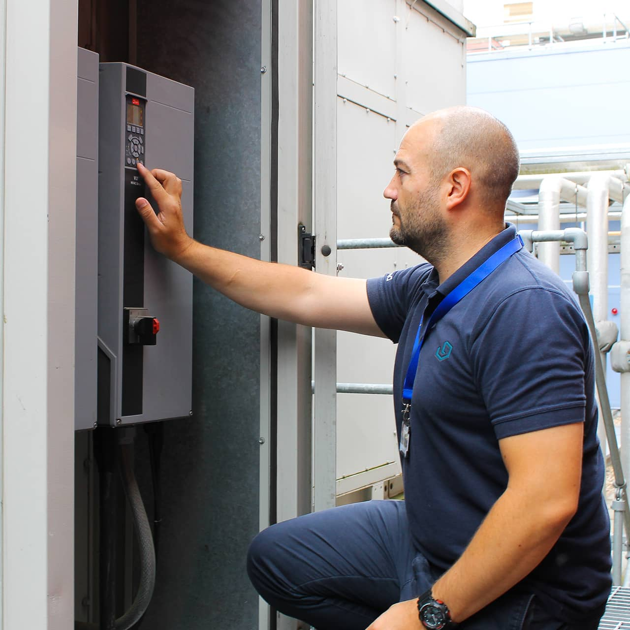 a learnd engineer investing an electrical panel